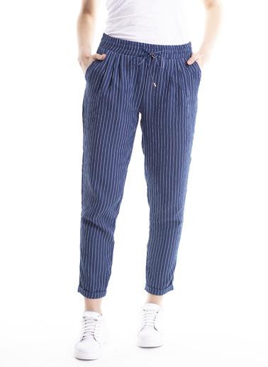 Stamina Bağcıklı Çizgili Pantolon Lacivert